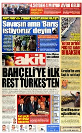 27 A�ustos 2015 Tarihli Yeni Akit Gazetesi