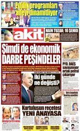 27 Eylül 2016 Tarihli Yeni Akit Gazetesi