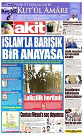 28 Nisan 2016 Tarihli Yeni Akit Gazetesi