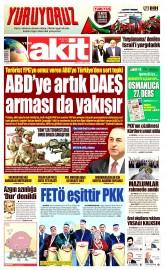 28 Mayıs 2016 Tarihli Yeni Akit Gazetesi