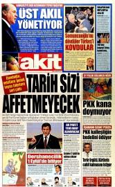28 A�ustos 2015 Tarihli Yeni Akit Gazetesi