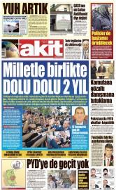 28 Ağustos 2016 Tarihli Yeni Akit Gazetesi