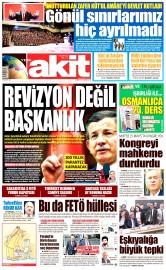 30 Nisan 2016 Tarihli Yeni Akit Gazetesi