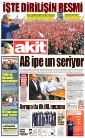 30 Mayıs 2016 Tarihli Yeni Akit Gazetesi