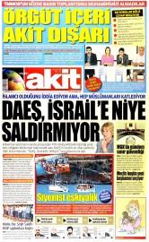 30 Haziran 2015 Tarihli Yeni Akit Gazetesi