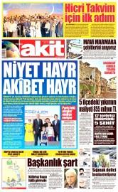 31 Mayıs 2016 Tarihli Yeni Akit Gazetesi