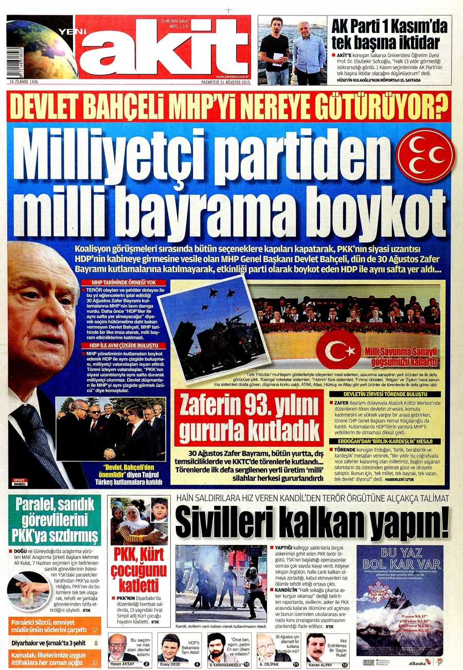 Gazete Man�etleri