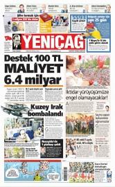 01 Mayıs 2016 Tarihli Yeniçağ Gazetesi