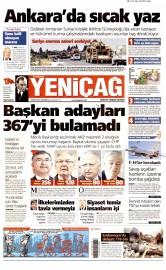 01 Temmuz 2015 Tarihli Yeni�a� Gazetesi