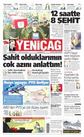 02 �ubat 2016 Tarihli Yeni�a� Gazetesi
