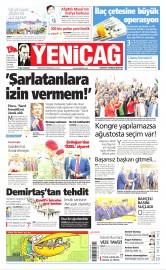 04 Mayıs 2016 Tarihli Yeniçağ Gazetesi