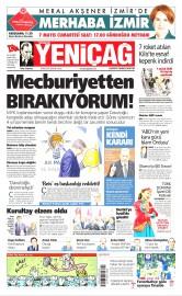 06 Mayıs 2016 Tarihli Yeniçağ Gazetesi