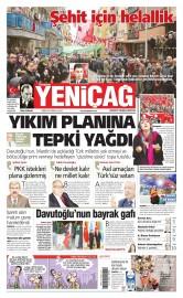 07 �ubat 2016 Tarihli Yeni�a� Gazetesi