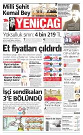 10 Nisan 2015 Tarihli Yeni�a� Gazetesi