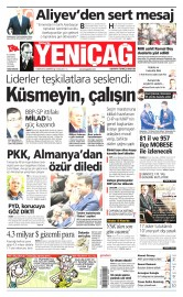 11 Nisan 2015 Tarihli Yeni�a� Gazetesi