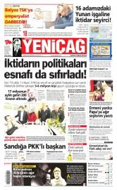 13 Nisan 2015 Tarihli Yeni�a� Gazetesi