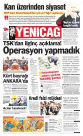 14 Nisan 2015 Tarihli Yeni�a� Gazetesi