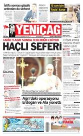 15 Nisan 2015 Tarihli Yeni�a� Gazetesi