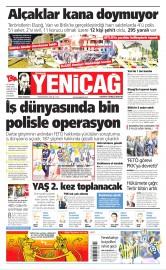 19 Ağustos 2016 Tarihli Yeniçağ Gazetesi