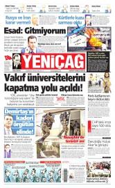 20 Kas�m 2015 Tarihli Yeni�a� Gazetesi