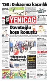 21 May�s 2015 Tarihli Yeni�a� Gazetesi