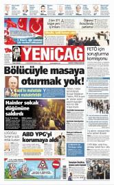 21 Ağustos 2016 Tarihli Yeniçağ Gazetesi
