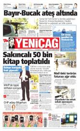 21 Kas�m 2015 Tarihli Yeni�a� Gazetesi