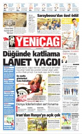 22 Ağustos 2016 Tarihli Yeniçağ Gazetesi