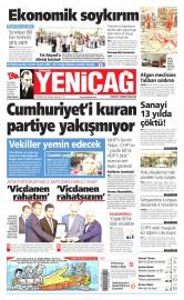 23 Haziran 2015 Tarihli Yeni�a� Gazetesi