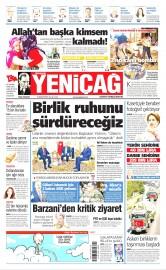 23 Ağustos 2016 Tarihli Yeniçağ Gazetesi
