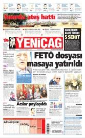 24 Ağustos 2016 Tarihli Yeniçağ Gazetesi