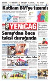 24 Kas�m 2015 Tarihli Yeni�a� Gazetesi