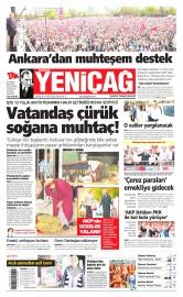 25 May�s 2015 Tarihli Yeni�a� Gazetesi