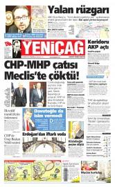 25 Haziran 2015 Tarihli Yeni�a� Gazetesi
