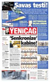 25 Kas�m 2015 Tarihli Yeni�a� Gazetesi