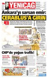 26 Haziran 2015 Tarihli Yeni�a� Gazetesi