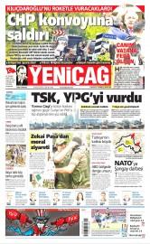 26 Ağustos 2016 Tarihli Yeniçağ Gazetesi
