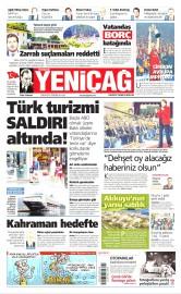 28 Nisan 2016 Tarihli Yeniçağ Gazetesi