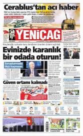 28 Ağustos 2016 Tarihli Yeniçağ Gazetesi