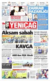29 Nisan 2016 Tarihli Yeniçağ Gazetesi