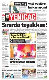 29 Haziran 2015 Tarihli Yeni�a� Gazetesi