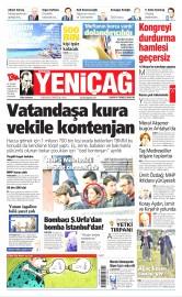 30 Nisan 2016 Tarihli Yeniçağ Gazetesi