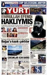 01 Eylül 2014 Tarihli Yurt Gazetesi