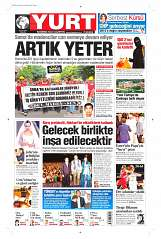 03 Eylül 2014 Tarihli Yurt Gazetesi