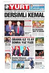 06 Eylül 2014 Tarihli Yurt Gazetesi