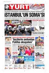08 Eylül 2014 Tarihli Yurt Gazetesi