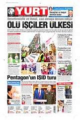 09 Eylül 2014 Tarihli Yurt Gazetesi