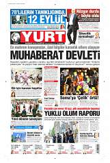 11 Eylül 2014 Tarihli Yurt Gazetesi