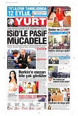 12 Eylül 2014 Tarihli Yurt Gazetesi