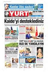 13 Eylül 2014 Tarihli Yurt Gazetesi